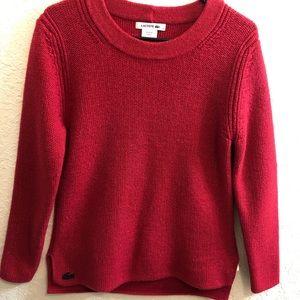 Lacoste women's red sweater